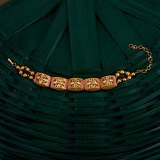 350501 Kundan Classic Bracelet With Gold Plating