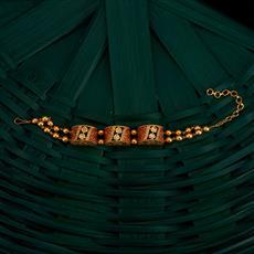 350502 Kundan Classic Bracelet With Gold Plating