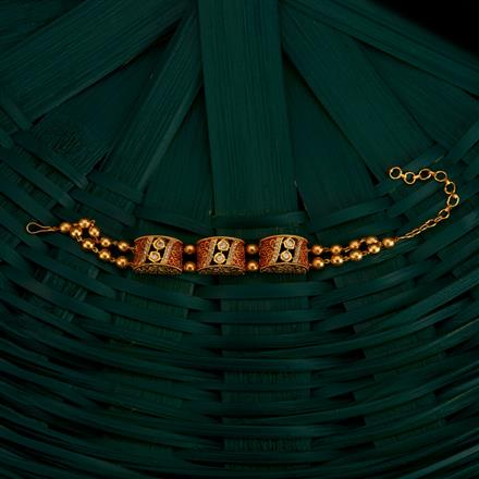 350502 Kundan Classic Bracelet With Gold Plating