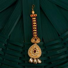 350507 Kundan Classic Tikka With Gold Plating