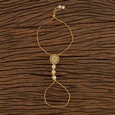 350536 Kundan Classic Hath Pan With Gold Plating