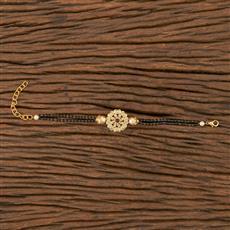 350538 Kundan Delicate Bracelet With Gold Plating