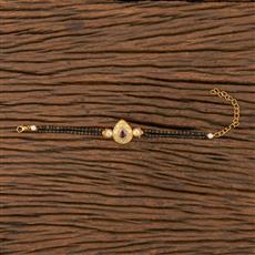 350539 Kundan Delicate Bracelet With Gold Plating