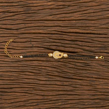 350540 Kundan Delicate Bracelet With Gold Plating