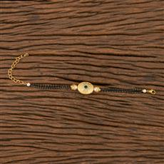 350541 Kundan Delicate Bracelet With Gold Plating