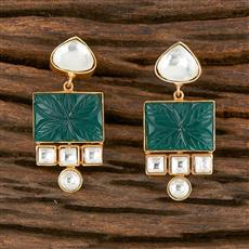 350542 Kundan Classic Earring With Gold Plating