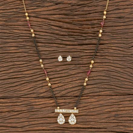 350559 Kundan Classic Mangalsutra With Gold Plating