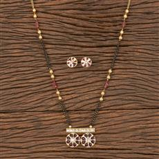 350560 Kundan Classic Mangalsutra With Gold Plating
