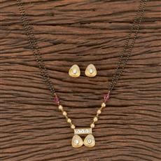 350561 Kundan Classic Mangalsutra With Gold Plating