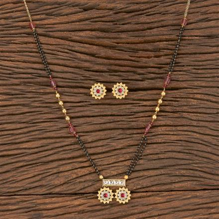 350562 Kundan Classic Mangalsutra With Gold Plating
