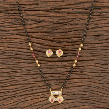350564 Kundan Classic Mangalsutra With Gold Plating