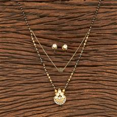 350586 Kundan Classic Mangalsutra With Gold Plating