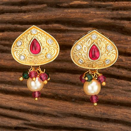 350591 Kundan Tops With Gold Plating