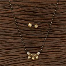 350601 Kundan Classic Mangalsutra With Gold Plating