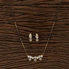 350603 Kundan Classic Mangalsutra With Gold Plating