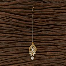 350605 Kundan Classic Tikka With Gold Plating