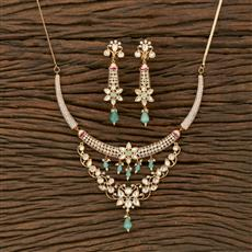 350621 Kundan Classic Necklace With Gold Plating