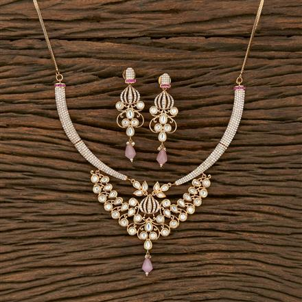 350622 Kundan Classic Necklace With Gold Plating