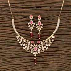 350623 Kundan Classic Necklace With Gold Plating