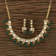 350631 Kundan Classic Necklace With Gold Plating