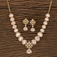 350662 Kundan Classic Necklace With Gold Plating