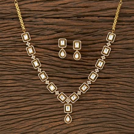 350664 Kundan Classic Necklace With Gold Plating