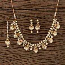 350666 Kundan Classic Necklace With Gold Plating