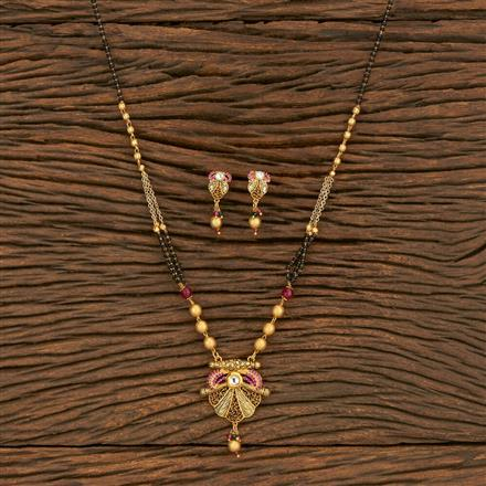 350669 Kundan Classic Mangalsutra With Gold Plating