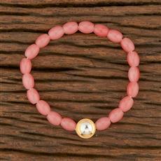 350672 Kundan Delicate Bracelet With Gold Plating