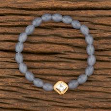 350673 Kundan Delicate Bracelet With Gold Plating