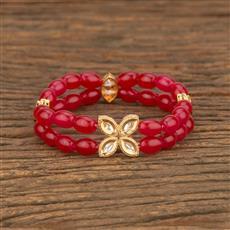 350674 Kundan Delicate Bracelet With Gold Plating