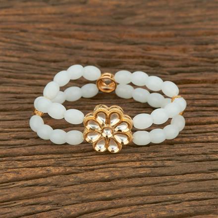 350675 Kundan Delicate Bracelet With Gold Plating
