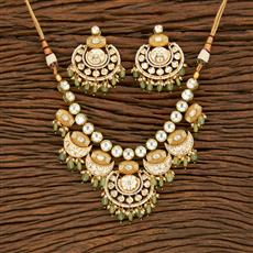 350676 Kundan Classic Necklace With Gold Plating