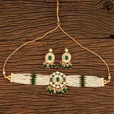 350678 Kundan Mala Necklace With Gold Plating