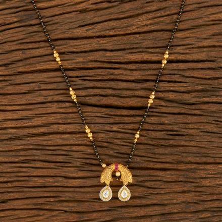 350679 Kundan Classic Mangalsutra With Gold Plating