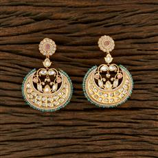 350692 Kundan Classic Earring With Gold Plating