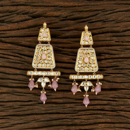 350694 Kundan Classic Earring With Gold Plating