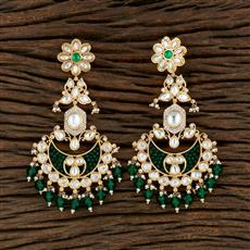 350698 Kundan Classic Earring With Gold Plating