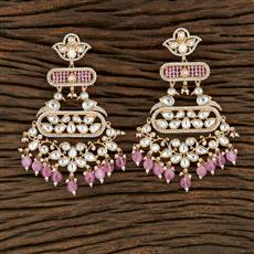 350699 Kundan Classic Earring With Gold Plating