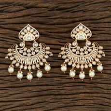 350700 Kundan Classic Earring With Gold Plating