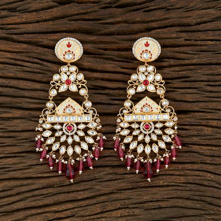 350701 Kundan Classic Earring With Gold Plating