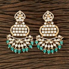 350702 Kundan Classic Earring With Gold Plating
