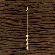 350704 Kundan Delicate Tikka With Gold Plating