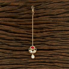350705 Kundan Delicate Tikka With Gold Plating