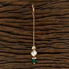 350709 Kundan Delicate Tikka With Gold Plating