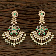 350715 Kundan Classic Earring With Gold Plating