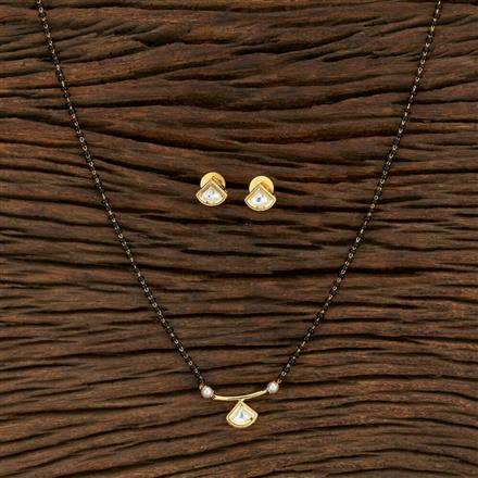350728 Kundan Classic Mangalsutra With Gold Plating
