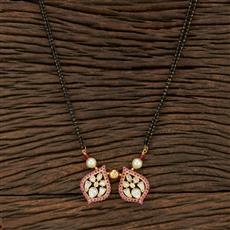 350729 Kundan Classic Mangalsutra With Gold Plating