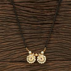 350731 Kundan Classic Mangalsutra With Gold Plating