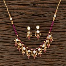 350758 Kundan Classic Necklace With Gold Plating